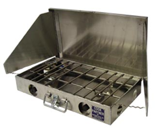 "Partner Steel 22"" Double Burner Stove"