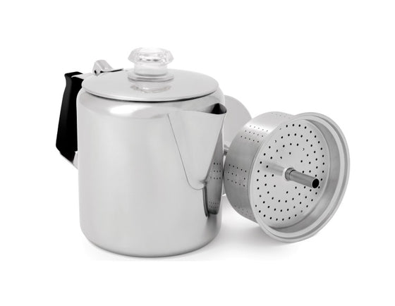 GSI Glacier Stainless Steel 6 Cup Percolator