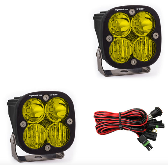 Baja Designs - Squadron Sport, Pair Amber, LED Driving/Combo