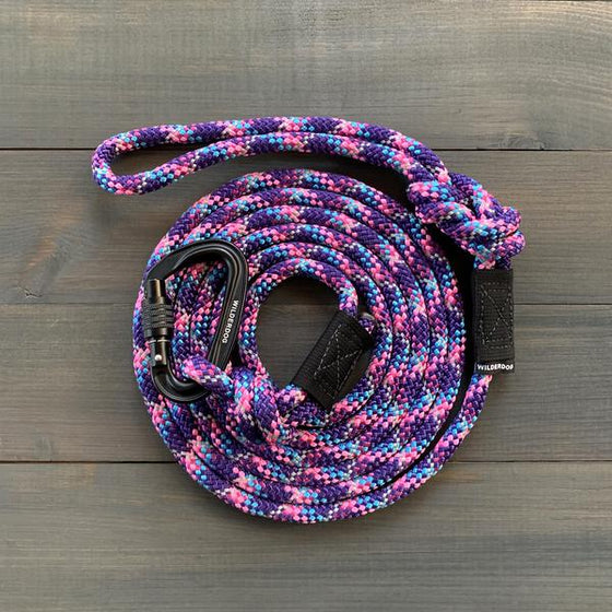 Wilderdog Big Carabiner Reflective Rope Leash - 5ft