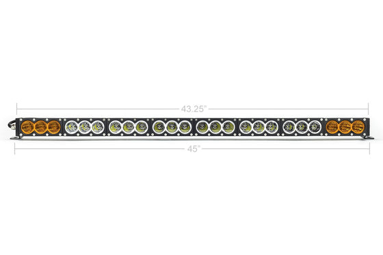 "42"" Amber/White Dual Function LED Bar - Cali Raised LED"