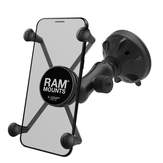 RAM® X-Grip® Large Phone Mount with Low Profile Suction Base