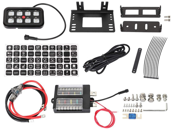 Vehicle Accessory 8 Switch Control System