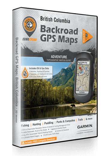 Backroad GPS Maps - British Columbia - Overland Outfitters