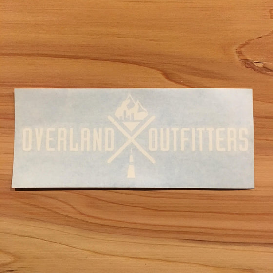 Overland Outfitters Vinyl Decal White