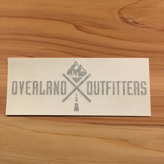 Overland Outfitters Vinyl Decal Black