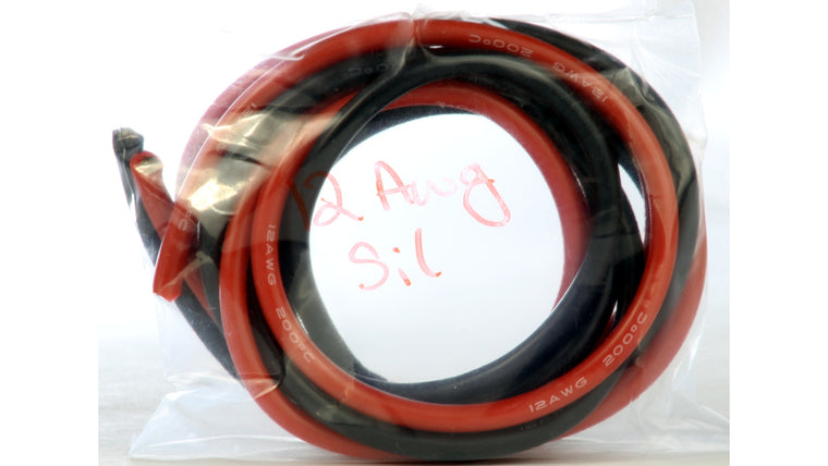12AWG Wire, w/Hi Temp Silicone Rubber Jacket