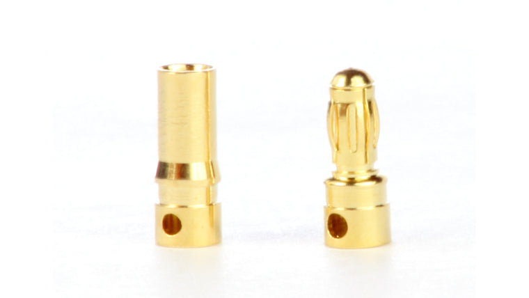 Gold Plated 3.5mm bullet connectors, 3 pair
