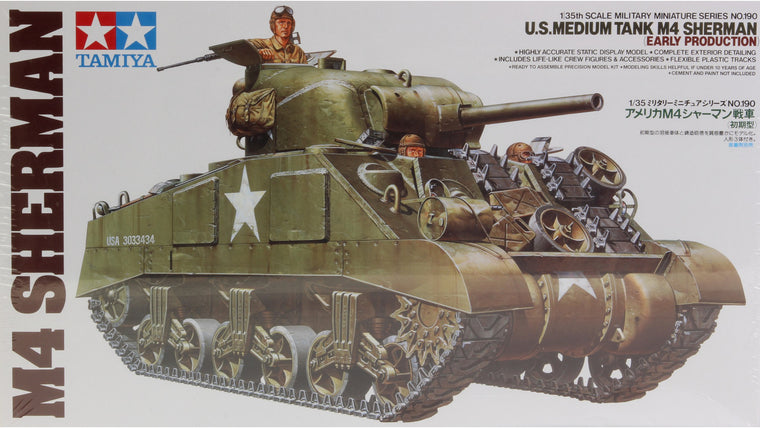 1/35 M4 SHERMAN U.S. Medium Tank by TAMIYA