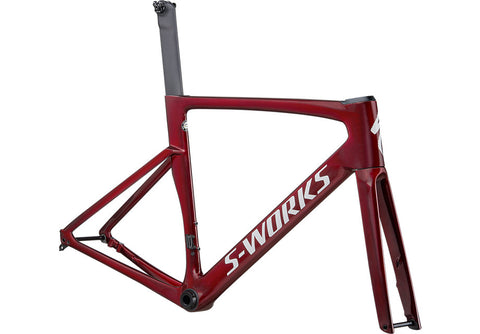 S-WORKS VENGE FRAMESET GLOSS SPECTRAFLAIR/RED TINT/METALLIC WHITE SILVER