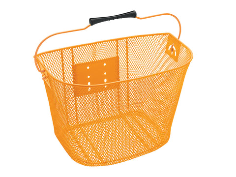 Basket Electra QR Steel Mesh Orange - Mackay Cycles - [product_SKU] - Electra