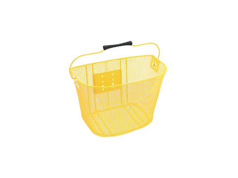 Basket Electra QR Steel Mesh Yellow