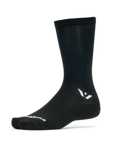 Swiftwick Aspire Seven Black Sock Black - Mackay Cycles - [product_SKU] - Swiftwick