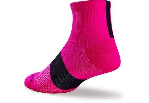 Sl Mid Sock Wmn Neon Pnk/Blk M/L - Mackay Cycles - [product_SKU] - Specialized