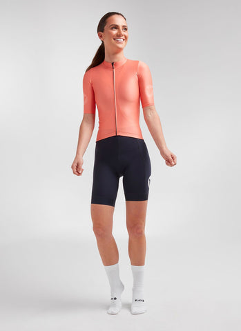 Black Sheep Women's Essentials TEAM Jersey - Coral - Mackay Cycles - [product_SKU] - Mackay Cycles