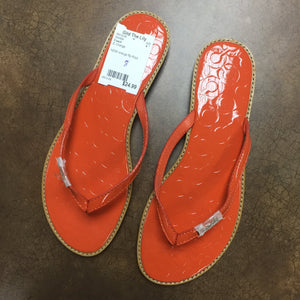 Coach Orange Sandals, Size 8