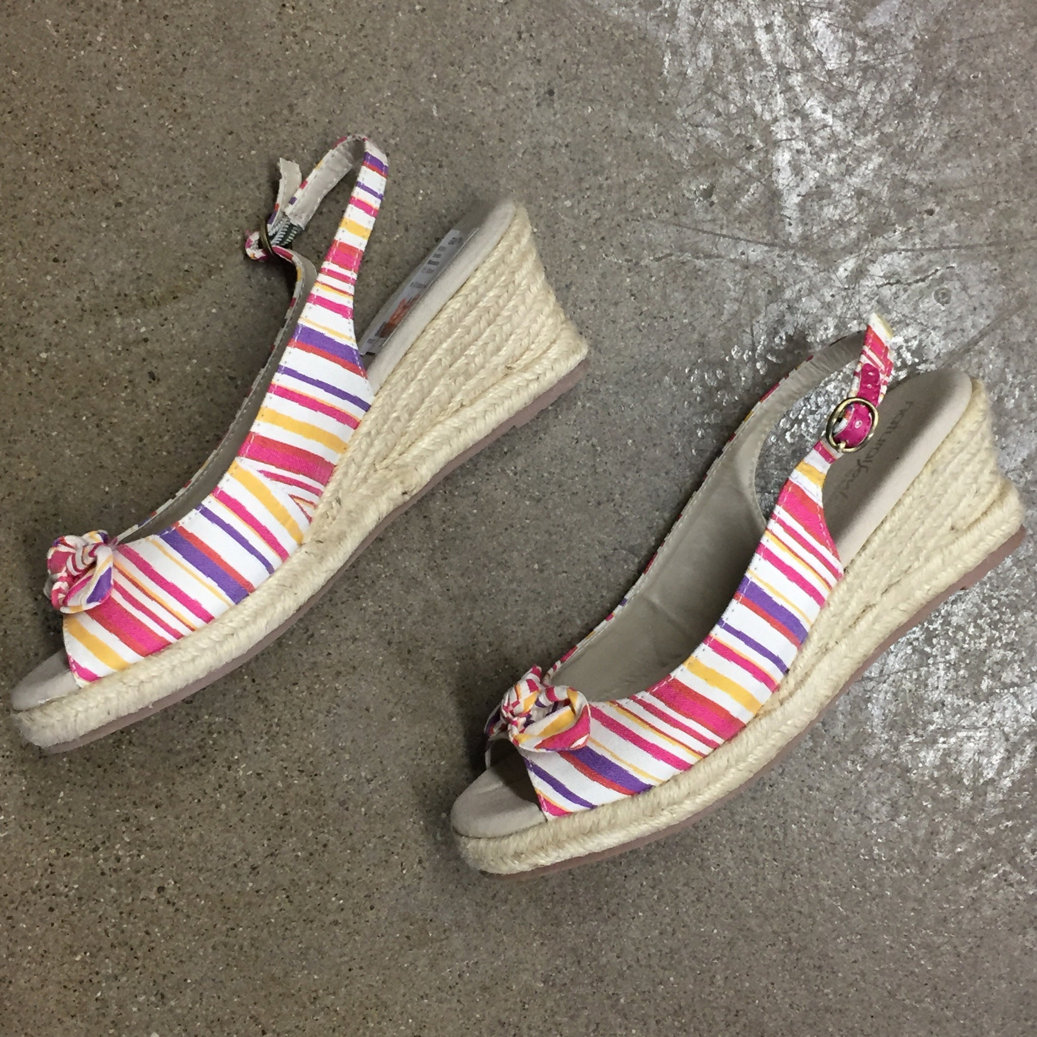 Naturalizer Striped Wedges, Size 9.5