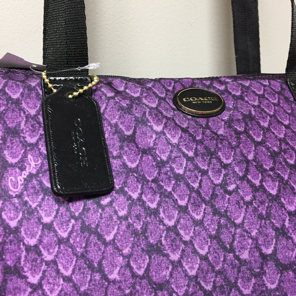 Coach Purple Nylon Tote