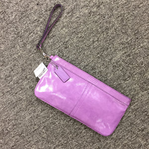 Coach Purple Wristlet