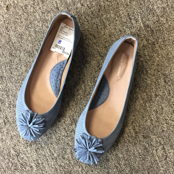 Hush Puppies Blue Flats, Size 8