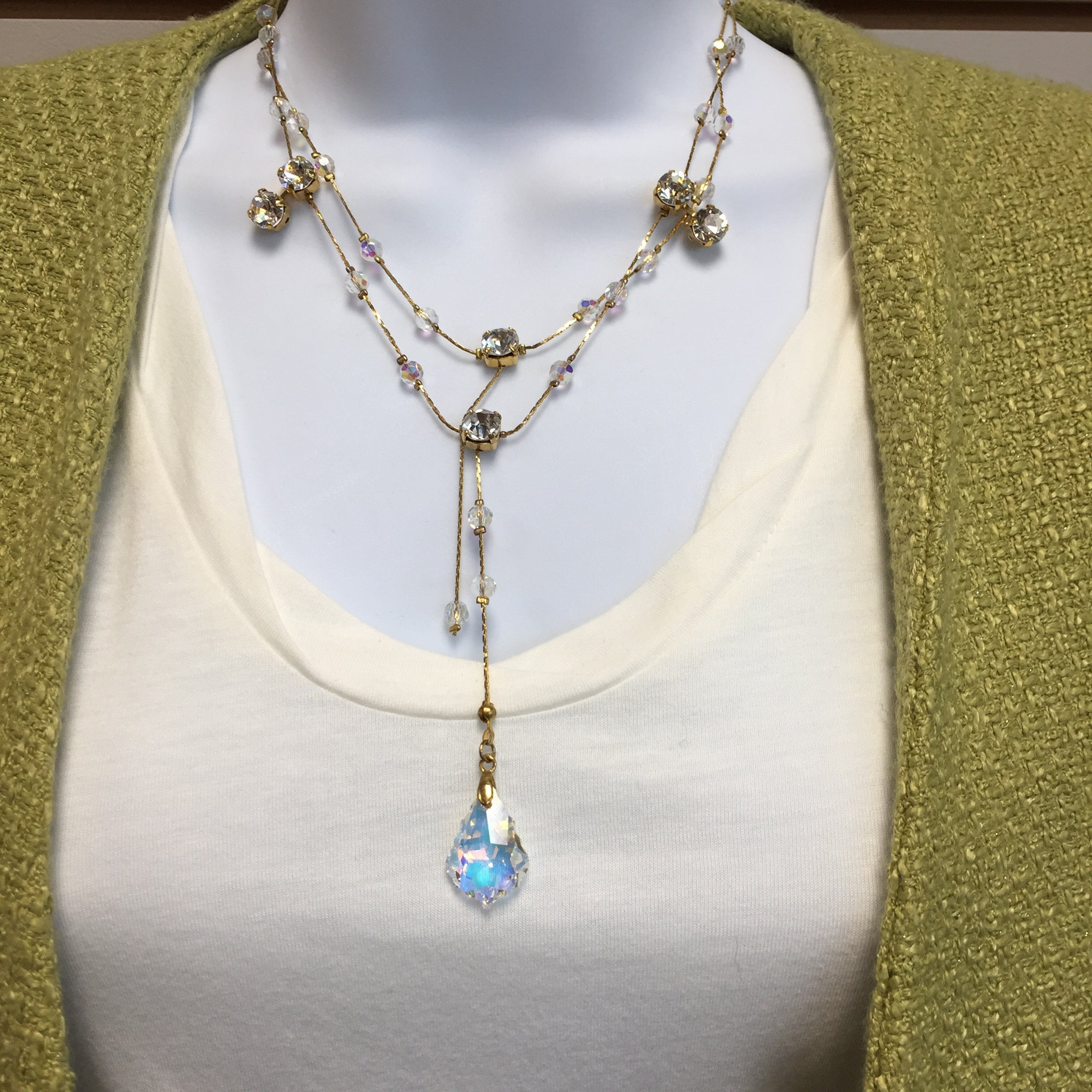 Gold Layer Drop Necklace