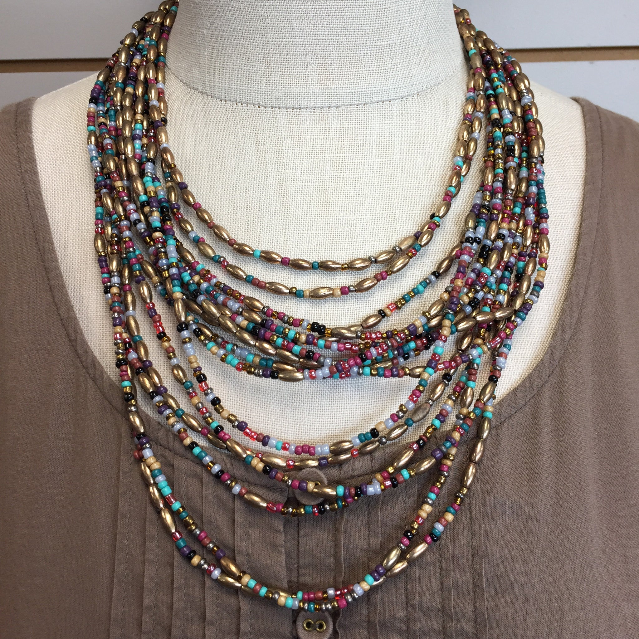 Multi Strand Seed Necklace