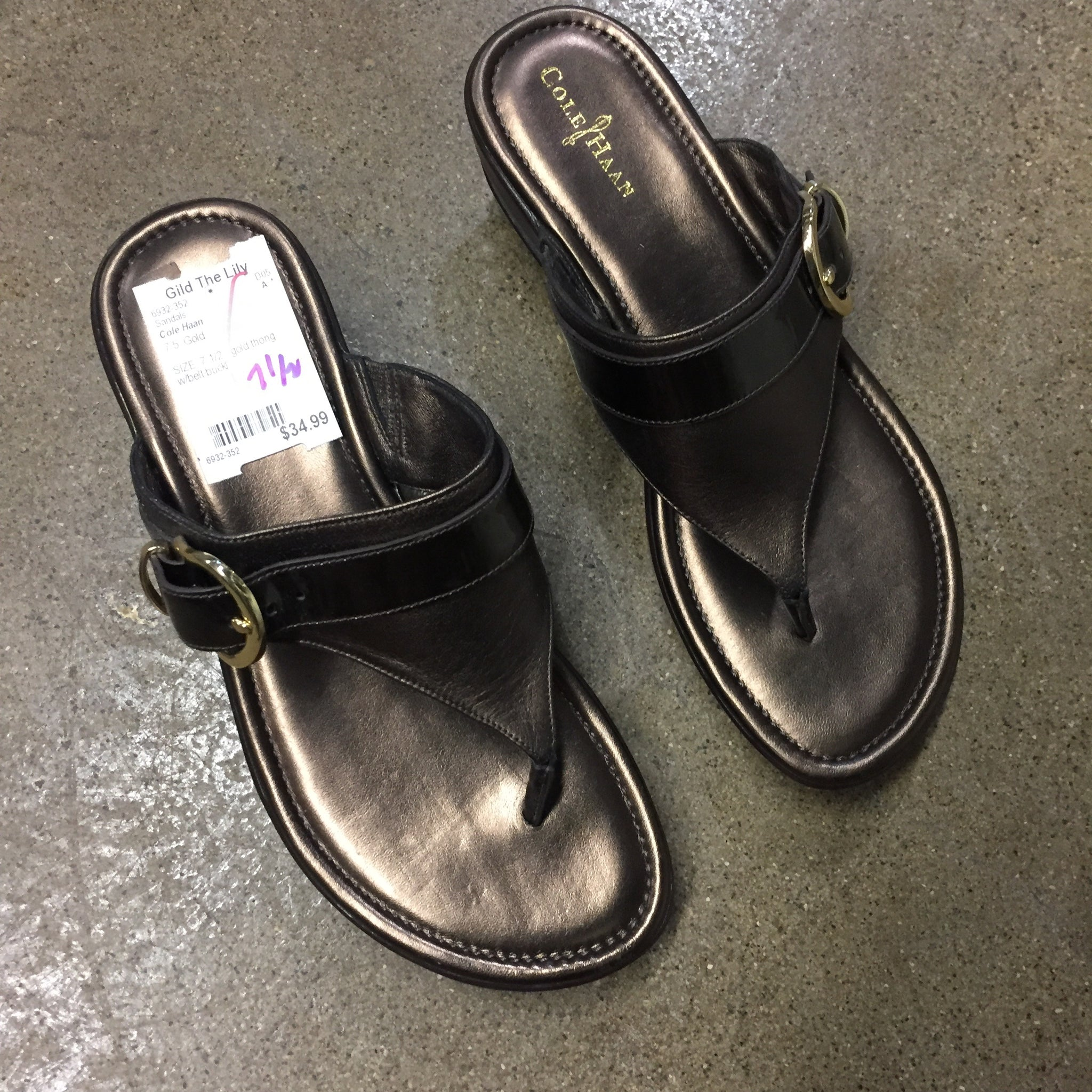 Cole Haan Brown Sandals, Size 7.5