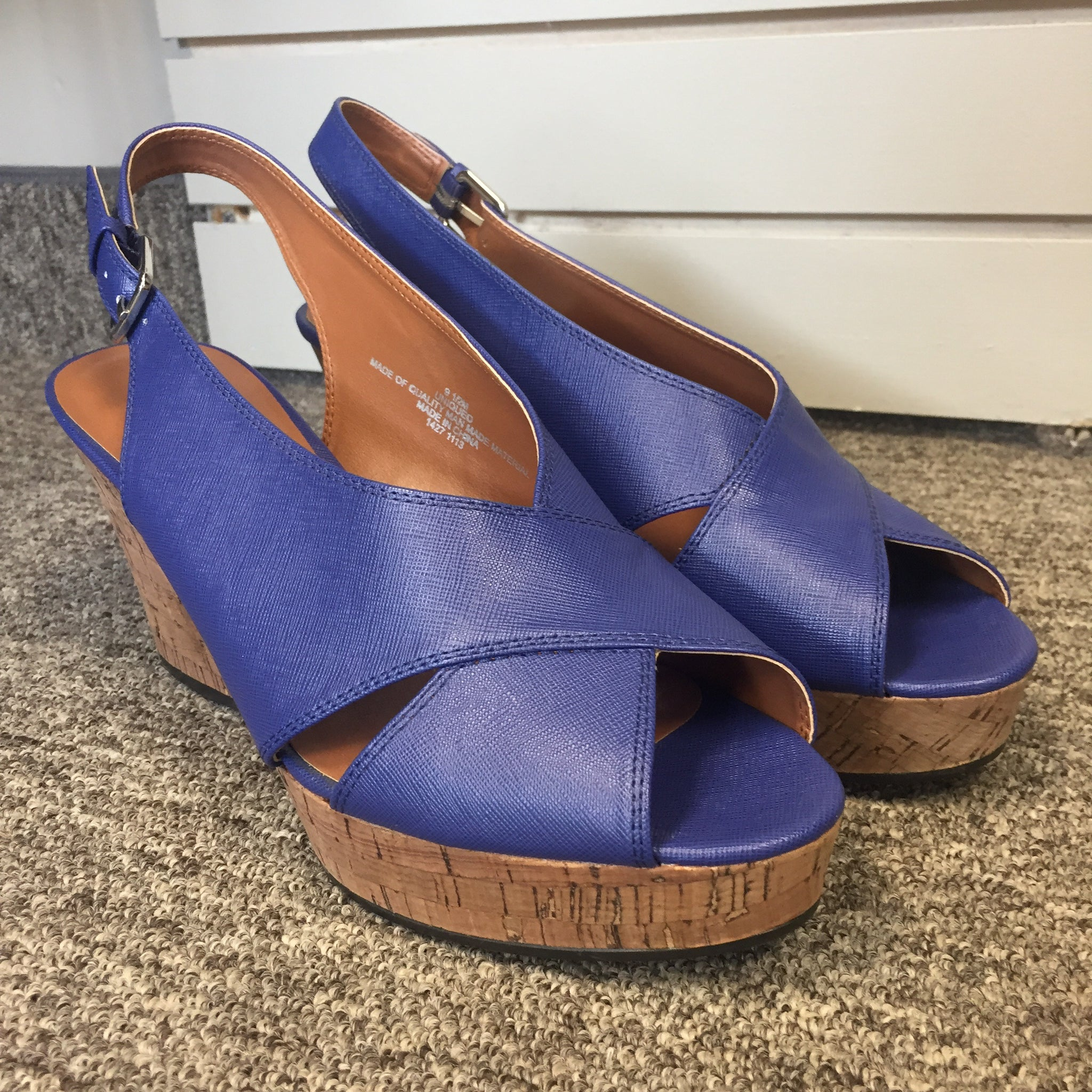 Nine West Blue Wedges, Size 9.5