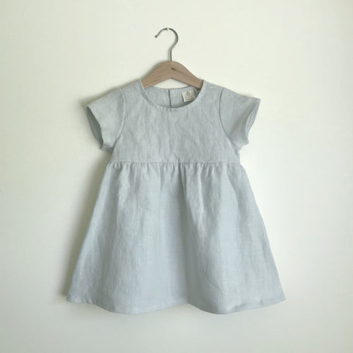 Ready to Ship Wildwood Dress Silver Blue (3M, 6M, 18M, 2T)