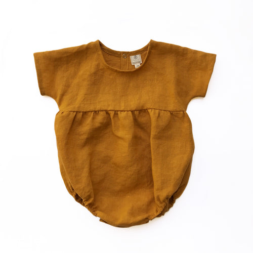 Ready to Ship Moonstone Romper Turmeric (3M-2T)