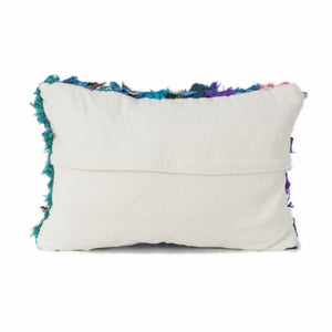 Moroccan Boucharouite Multi Colored Berber Pillow