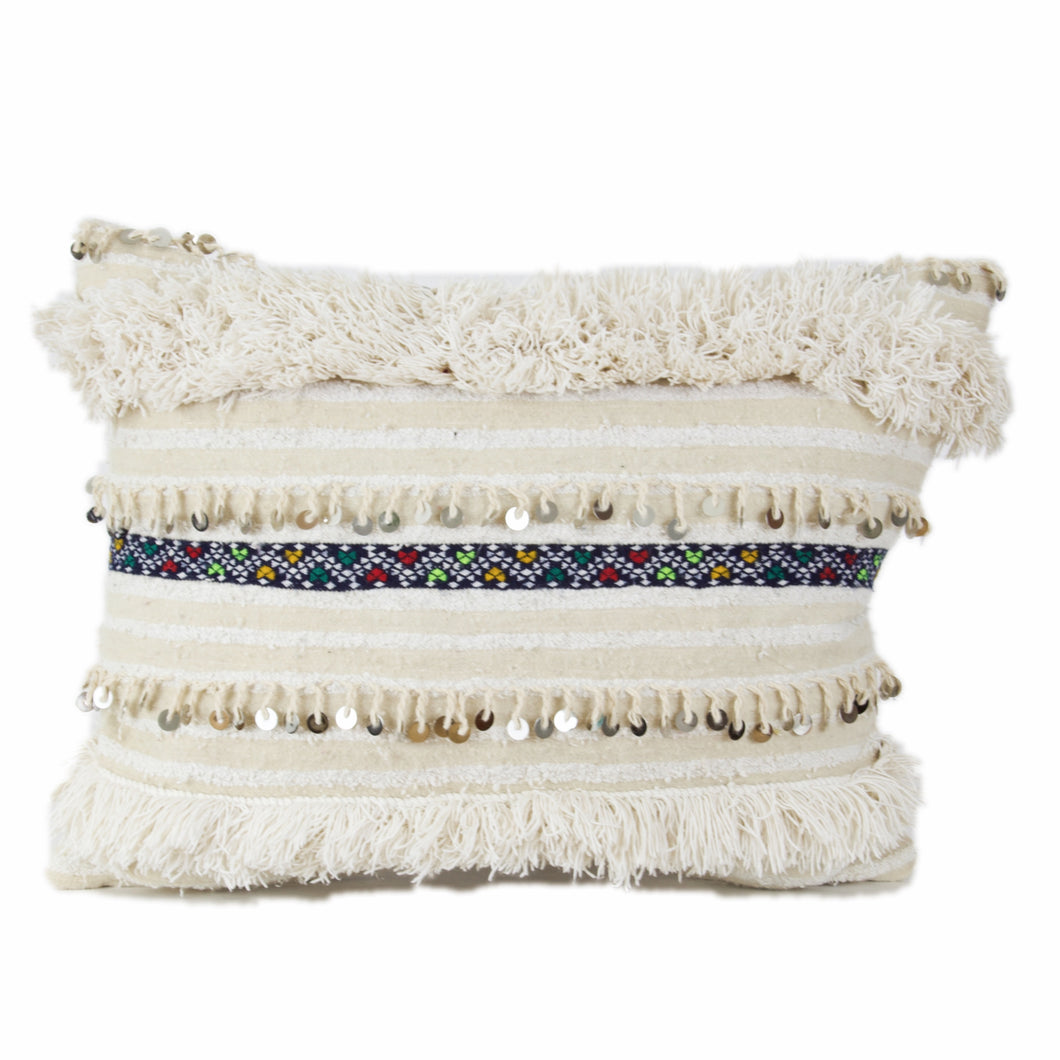 Moroccan Handira Throw Pillow