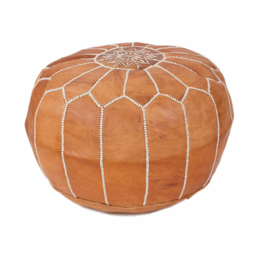 Leather Pouf 2