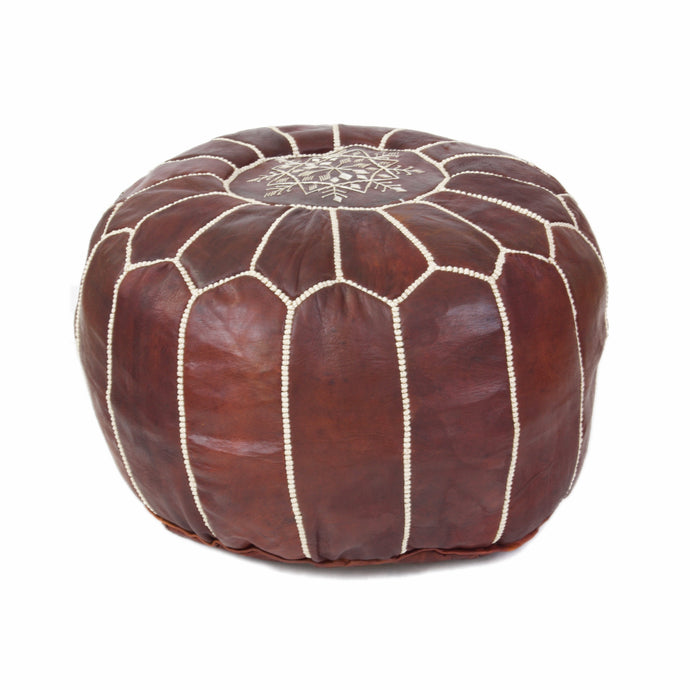 Leather Pouf 4