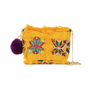 "Moroccan Berber ""Mimi"" Up-Cycled Handbag & Shoulder Chain"