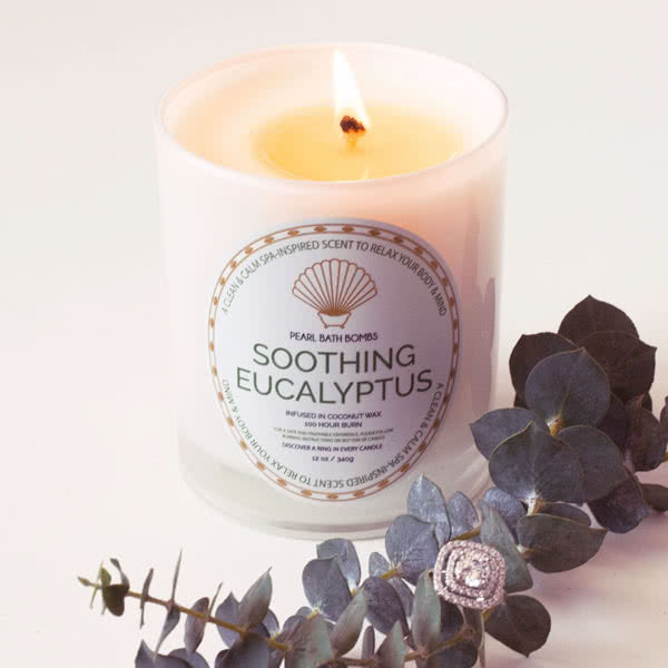 Soothing Eucalyptus Coconut Ring Candle