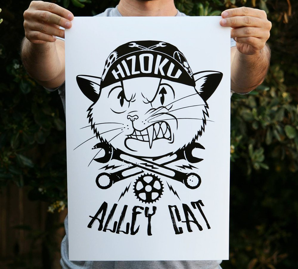 Alley Cat 13 x 19 Poster Print