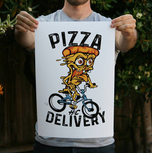 Pizza Delivery 13 x 19 Poster Print