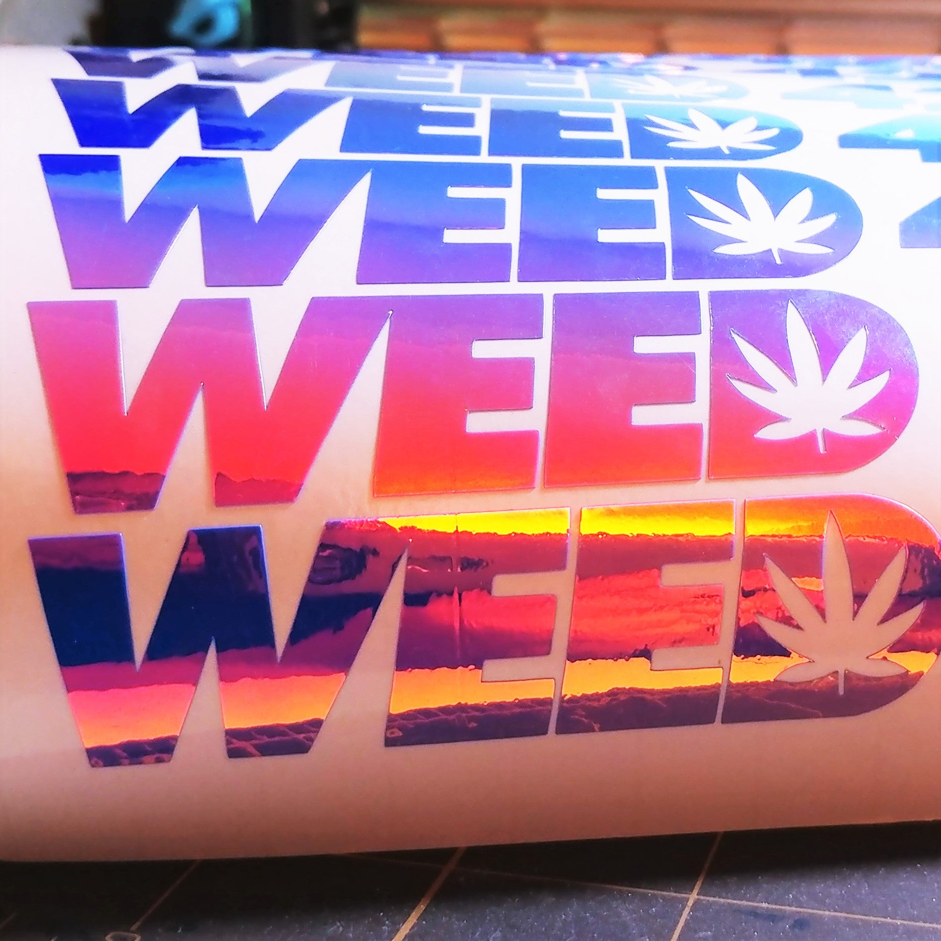"Limited Edition ""WEED"" Vinyl Decal"