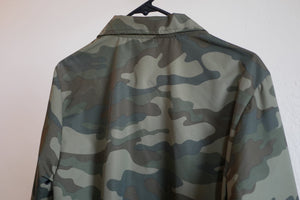 Camo Windbreaker Coaches Jacket