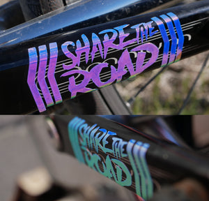 Holographic Share The Road Decal