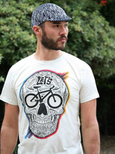 """Let's Go"" Bike Color Print Sand T"