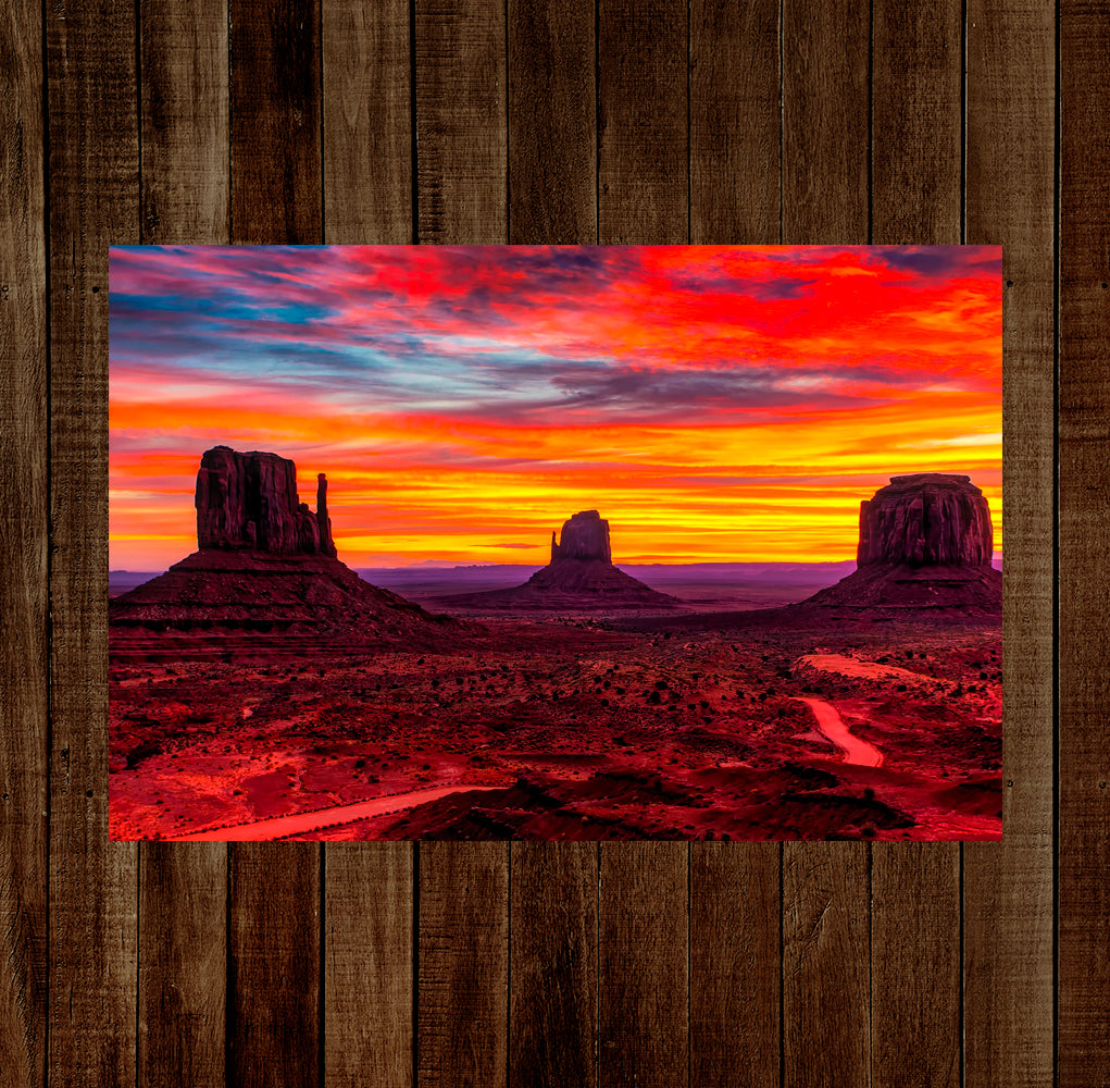 Monument Valley Sunset 13 x 19 Poster Print