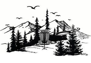 Limited Edition Disc Golf Nature Scene 13 x 19 Poster Print