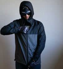 Lightweight Black/Grey Windbreaker Hooded Jacket