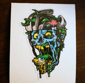 """Undead Cyclist"" Color Die Cut Vinyl Sticker"