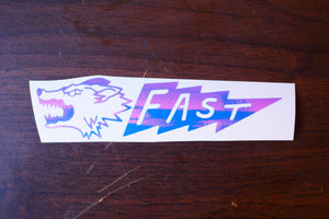Lightning Fast Vinyl Decal