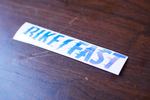 Bike Fast Vinyl Decal