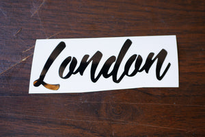 London Vinyl Decal