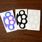 Brass Knuckles Vinyl Decal